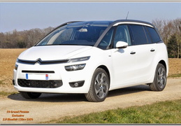 C4 Grand Picasso Exclusive 2.0 BlueHdi EAT6 Blanc Cuir/JA18/TPV/Pack média/Alarme/2015