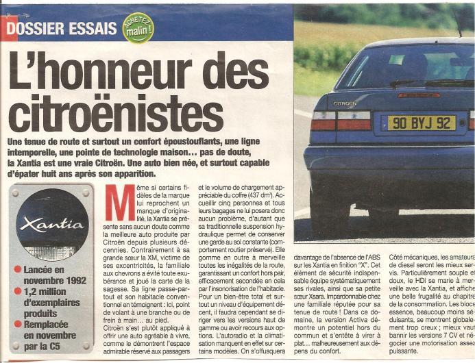 Nom : Essai Auto plus en 2000 Xantia.jpg Affichages : 776 Taille : 99,8 Ko