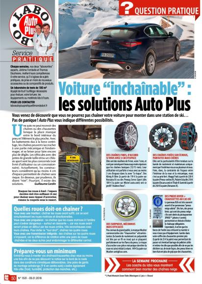 Nom : Solutions pour voiture inchainable - Auto Plus n°1531.jpg Affichages : 292 Taille : 68,8 Ko